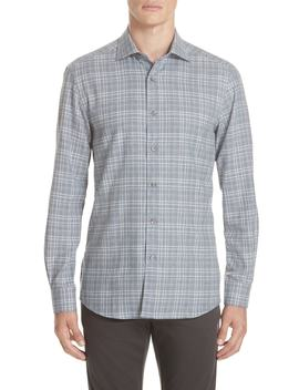 Classic Fit Plaid Sport Shirt by Ermenegildo Zegna