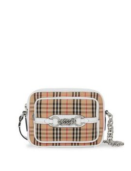 Link Check Camera Bag by Burberry