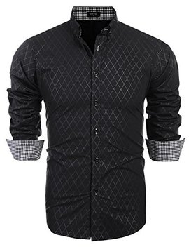 Coofandy Men's Business Dress Shirt Long Sleeve Casual Slim Fit Button Down Shirt by Coofandy