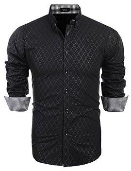 Coofandy Men's Business Dress Shirt Long Sleeve Casual Slim Fit Button Down Shirt by Coofandy