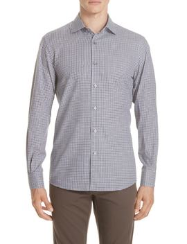Classic Fit Check Sport Shirt by Ermenegildo Zegna