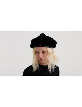 Lazy Oaf Never On Time Faux Fur Beret by Lazy Oaf