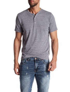 Short Sleeve Henley Shirt by Public Opinion