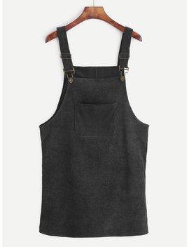 Corduroy Overall Dress by Romwe