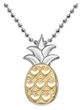 "Pineapple 16"" Pendant Necklace In Sterling Silver & 18k Gold by Alex Woo"