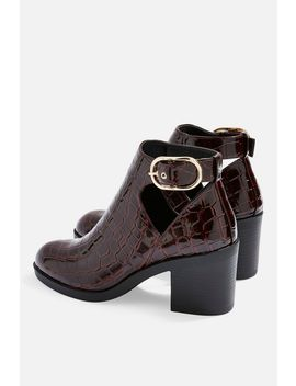 Berlin Buckle Croc Boots by Topshop
