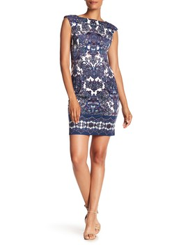 Printed Ponte Dress by London Times
