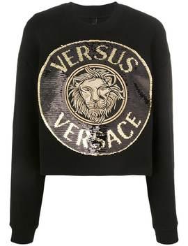 Versussequin Embellished Medallion Sweatshirthome Women Versus by Versus