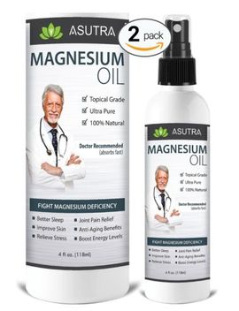 2 Bottle Value Pack   Pure Zechstein Magnesium Oil Spray   Less Itch &Amp; Less S... by Asutra