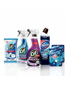 Cif And Domestos Essential Bathroom Cleaning Kit, 6 Items by Cif/Domestos