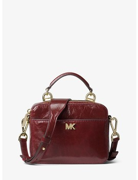 Mott Mini Crinkled Calf Leather Crossbody by Michael Michael Kors
