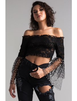 All The Energy Off Shoulder Top by Akira