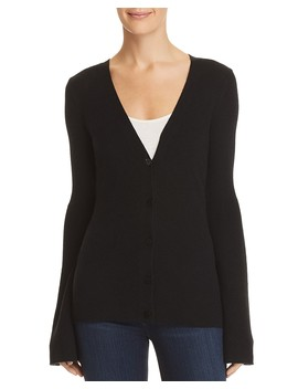 Flared Sleeve Cashmere Cardigan   100 Percents Exclusive by Theory