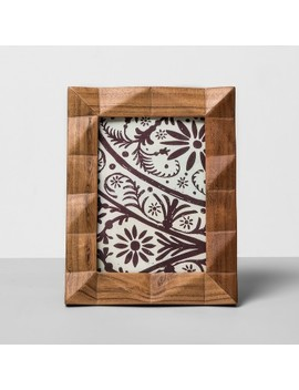 """Faceted Wood Frame 5""""X7""""   Opalhouse™ by Shop Collections"""
