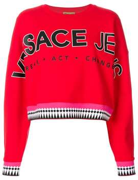 Versace Jeansdesigner Logo Sweater Home Women Versace Jeans Clothing Knitted Sweatersleather Leggings Designer Logo Sweater by Versace Jeans