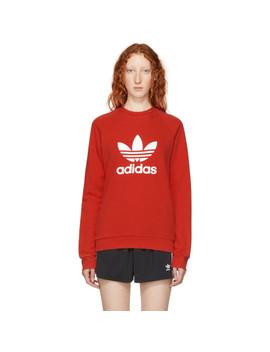 Red Warm Up Sweatshirt by Adidas Originals