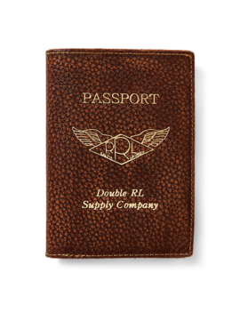 Pebbled Leather Passport Case by Ralph Lauren