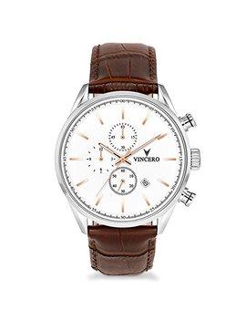 Vincero Luxury Men's Chrono S Wrist Watch   Top Grain Italian Leather Watch Band   43mm Chronograph Watch   Japanese Quartz Movement by Vincero