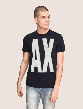Oversize A|X Stripe Tee by Armani Exchange