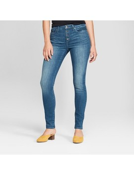 Women's High Rise Button Fly Skinny Jeans   Universal Thread™ Dark Wash by Shop All Universal Thread™