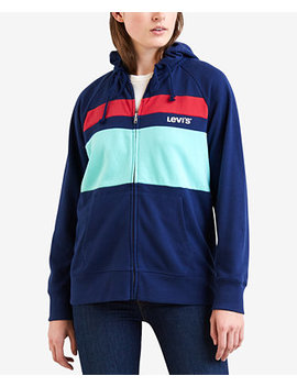 Striped Zippered Hoodie by Levi's