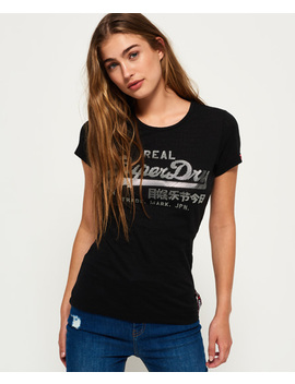 Vintage Logo Burnout T Shirt by Superdry