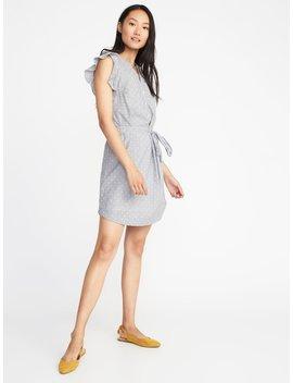 clip-dot-tie-belt-shirt-dress-for-women by old-navy