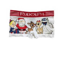 Womens White Rudolph & Friends Boy Shorts Boyfriend Briefs Underwear Panties by Rudolph