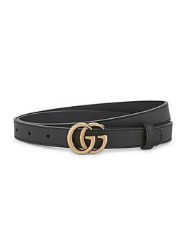 Gg 搭扣窄皮带 by Gucci