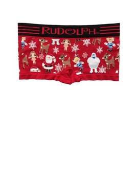 Womens Red Rudolph & Friends Boy Shorts Boyfriend Briefs Underwear Panties by Rudolph