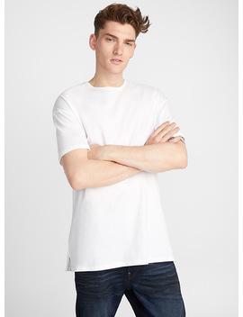 Organic Cotton Longline T Shirt by Le 31 Calvin Klein Jeans Le 31 Le 31 Adidas Originals