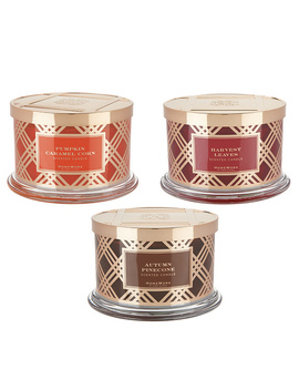 Home Worx By Harry Slatkin Set Of 3 Deluxe 18 Oz 4 Wick Candles by Qvc