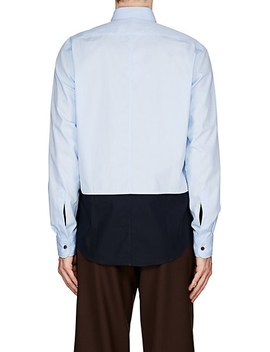 Colorblocked Cotton Shirt by Dries Van Noten