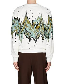 Splash Print Cotton Terry Sweatshirt by Dries Van Noten