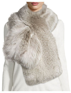 Fox Fur Pull Through Scarf by Il Borgo