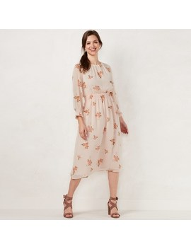 Women's Lc Lauren Conrad Floral Smocked Midi Dress by Kohl's