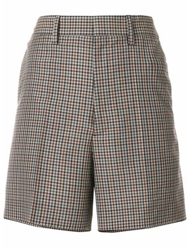 High Waisted Plaid Shorts by Maison Margiela