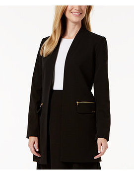 Open Front Long Jacket by Calvin Klein