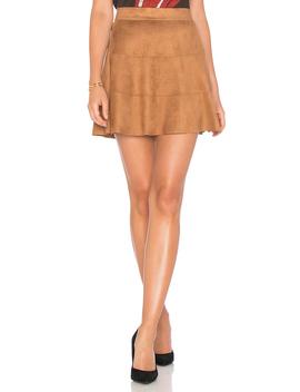 Waverly Suede Skirt by David Lerner