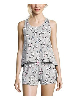 Heather Gray Butterfly Pajama Set   Women by Sleep &Amp; Co
