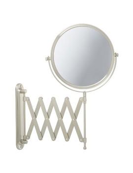 Jerdon 7 X 1 X Wall Mount Mirror With Scissor Bracket Nickel by Shop All Jerdon