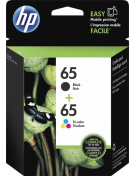 65 2 Pack Ink Cartridges   Multicolor/ Black by Hp