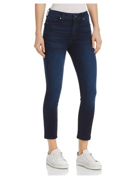 Hoxton High Rise Crop Jeans In Luella   100 Percents Exclusive by Paige