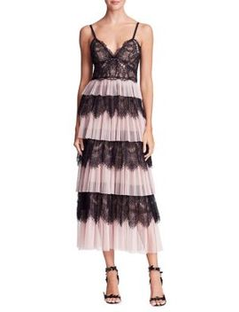 Tiered Tulle & Lace Dress by Marchesa Notte