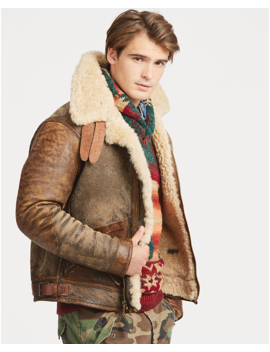 Shearling Bomber Jacket by Ralph Lauren