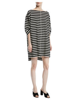 Bateau Neck 3/4 Sleeves Breton Striped Cotton Dress by Marc Jacobs