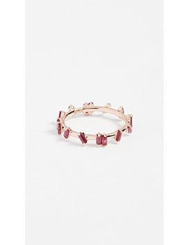 18k Gold Ruby Barbwire Ring by Suzanne Kalan