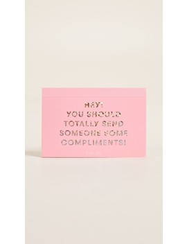 Compliments Postcard Book by Ban.Do