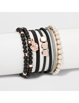 Flower Charm Clasp Bracelet Set 7ct   Wild Fable™ by Shop All Wild Fable™
