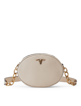 Steer Head Leather Crossbody by Ralph Lauren